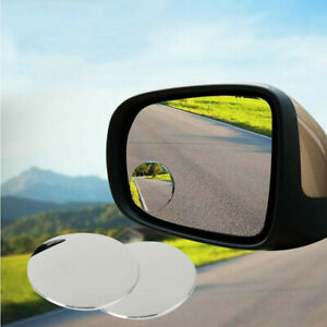 2pc 360 Degree Wide Angle Round Convex Blind Spot Mirror For Parking Rear View