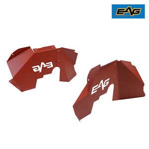 Eag Inner Fender Kit Sheet Metal Red 4pcs Front Fits 07 18 Jeep Wrangler Jk