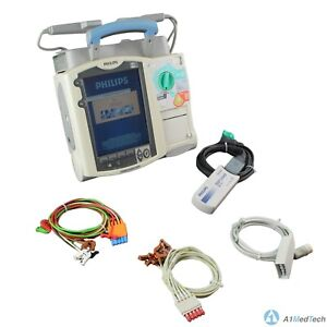 Philips Heartstart Mrx M3535a 12 lead Ecg W Paddles Accessories