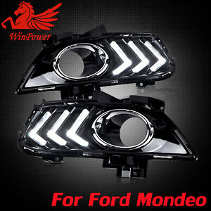 Drl For Ford Fusion Mondeo 2013 2015 Led Daytime Running Light Fog Lamp W Turn