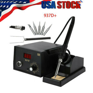937d Electric Iron Soldering Station Smd Welder Welding With Stand Sponge Esd