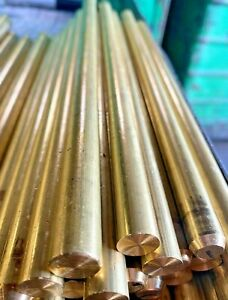 1 2 C360 Brass Round Bar 500 X 8
