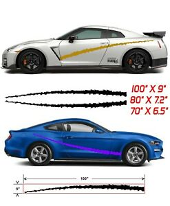 vehicle Side Graphic Decal Set Vinyl Car Stickers Pair Gtr Honda Camero
