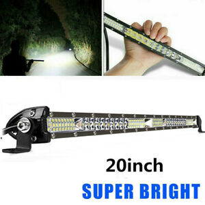 20 Inch 126w Led Work Light Bar Combo Driving Offroad 4wd For Jeep Truck Atv 22