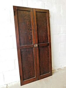 1910 S Antique Cabinet Doors Butler Pantry Craftsman Style Two Panel Fir Ornate
