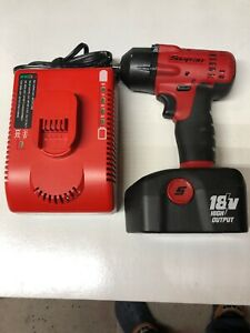 Snap On 3 8 18v Impact Charger And Battery Excellent Condition ct4418