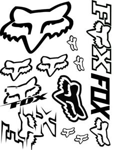 Fox Racing Vinyl Decal Sticker 9 5 X 12 5 Sheet Assorted Cars Atvs Mx Racing