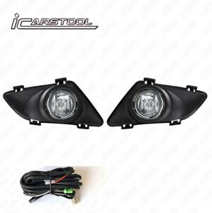 Clear Lens Fog Lights Kit For 2003 2005 Mazda 6 With Switch Wire Bulbs Bezel