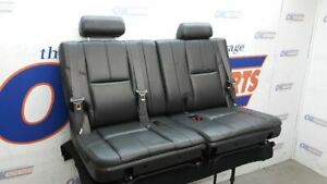 2007 14 Suburban Tahoe Yukon Third Row Rear Seat Black Leather Split Bench
