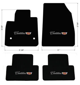 New Black Carpet Floor Mats 2019 2020 Cadillac Xt4 Embroidered Logo On All 4