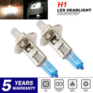 2x H1 100w 6000k White Xenon Hid Halogen Light Headlight Bulbs High Low Beam
