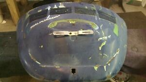 1976 Vw Super Beetle Engine Cover Hood Dents Dings 76 Fuel Injection T1 8