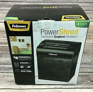 Fellowes Powershred Shredmate Paper Shredder Crc34035 Cross Cut 4 Sheets Tested