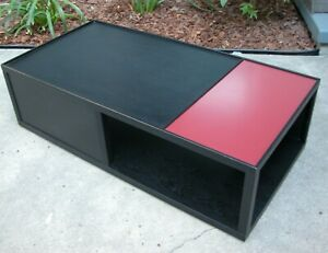 Hd Buttercup Coffee Table Venetial Red Lacquer Charcoal Black