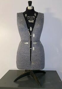 Vintage 1950 s Sally Stitch Push Button Dress Form Size A Mannequin With Stand