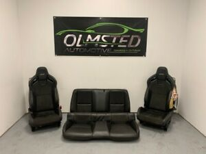 10 15 Camaro Ss Recaro Complete Set Seats Front Rear Leather Suede Black Rare