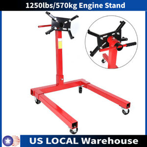 1250lbs 570kg Engine Stand Motor Hoist Dolly Mover Auto Repair Rebuild Jack Us