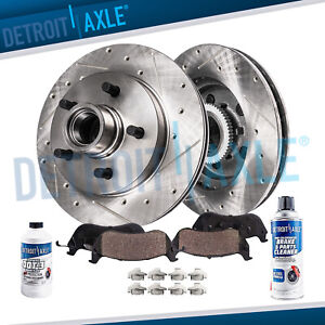 Ford Explorer Ranger Mountaineer Front 287mm 2wd Drilled Rotor Ceramic Brake Pad
