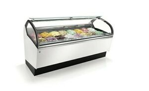 Beautiful Ifi Lunette Gelato Display Case With 18 Pans Brand New Never Used