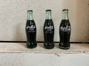 3 Vintage Coca Cola 6.5 Oz Unopened Cokes Return for Refund Money Back 60s-70s