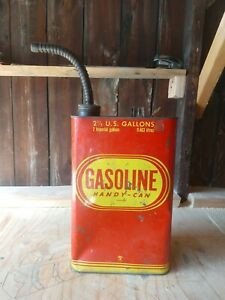 Vintage Liberty Handy Can Metal 2 1 2 Gallon Gas Can W Metal Spout Made In Usa