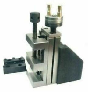 Mini Vertical Slide With 2 50mm Steel Vice instant Milling On Small Bench Lathe