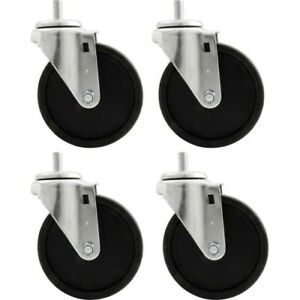 Allstar Performance 10166 Engine Cradle Casters 5 In Wheels Set Of 4 New
