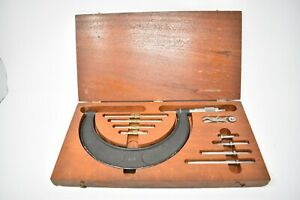 Vintage Brown Sharpe 2 6 Outside Micrometer Set