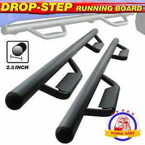 For 09 14 Ford F150 Super Crew Cab 3 Hoop Side Step Running Board Nerf Bar Blk