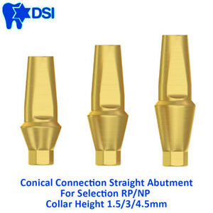 Dsi Dental Implant Conical Straight Anatomic Abutment Nobel Active Rp Np