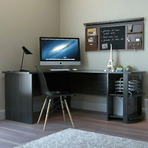 Ryan Rove Kristen Corner L shaped Computer Desk In Black