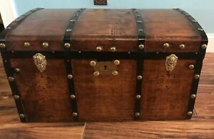 Trunks N Treasures Refinished Dome Top Trunk Antique Chest W Original Lock