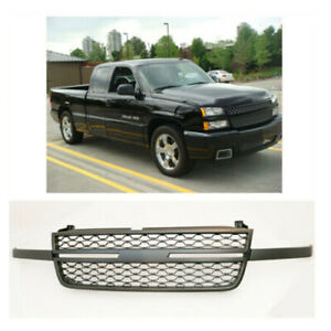 For 2005 2007 Chevy Silverado 1500 2500hd 3500hd Front Uppaintable Grille Black