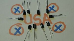 10uf 50v 105c 10pcs Electrolytic Capacitor Ships Today