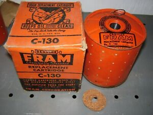 Vintage 1947 Fram C 130 Oil Filter Cartridge Nors