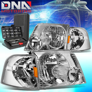 For 2002 2005 Ford Explorer Suv Chrome Housing Amber Side Headlight Lamps Tools