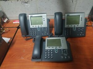 Lot Of 3 Cisco Ip Phone System 7940 Series