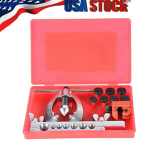 Double Flaring Brake Line Tool Kit Tubing Car Truck Tools With Mini Pipe Cutters