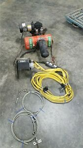 Cm 1 8 Ton Overhead Crane Hoist With Trolley 11273
