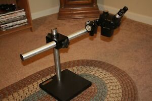 Reconditioned B l Stereo Boom And Zoom Microscope 7x 30x