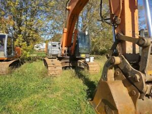 Hitachi Zx 350 Large Excavator With Hydraulic Thumb