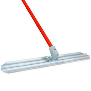 48 X 8 Round End Bull Float Blade And 18 Handle Concrete Screed Finishing Tool