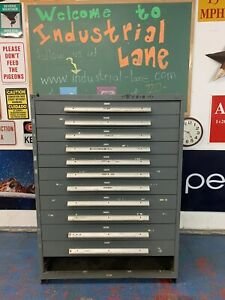 Stanley Vidmar Tool equipment Cabinet 45 Wide 12 Drawers 1 Missing