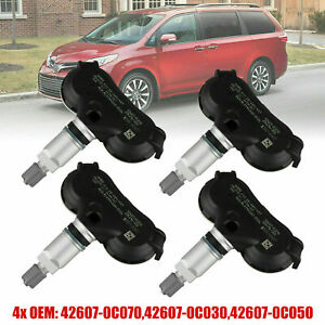 Set Of 4 Tpms Tire Pressure Monitor System Sensor 42607 0c070 For Toyota Tundra