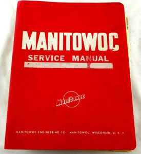Manitowoc 4100w Service Manual Genuine Oem Pre owned Free Shipping