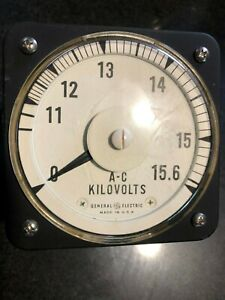 General Electric 8ab A c Volt Meter A c Kilovolts