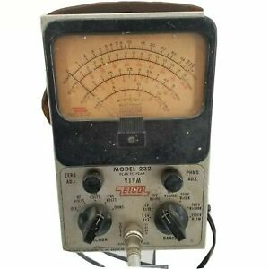 Eico Model 232 Vtvm Voltmeter Sold As Is Parts Only In Unrestored Condition