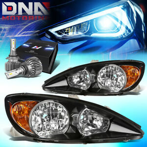 For 2002 2004 Camry Xv30 Replacement Headlights W led Kit Slim Style Black amber
