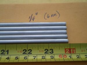 1 Pcs Stainless Steel Round Rod 302 1 4 250 6 35mm X 24 Long