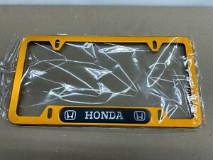 1 Metal Honda Car License Plate Frame Civic Is Accord Fit Prelude Jdm Wakaba